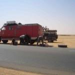 Reifenreparatur in Karima Sudan