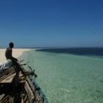 Ankunft auf der Sandinsel