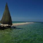 Dhow zu Besuch auf 'unser' Insel